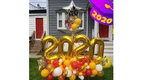 Image of a 2020 Extreme Grad Organic Balloon Arrangement