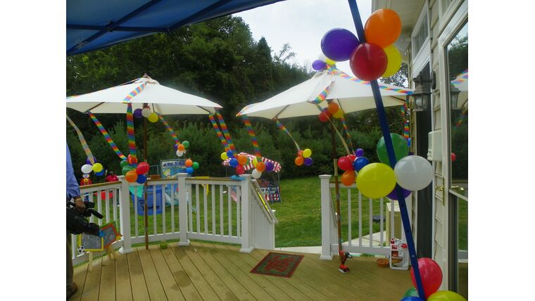 Picture of a #4 Balloon Clusters w/streamers
