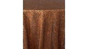 "Image of a 10' 54"" Duchess Sequins Copper Backdrops Panel"