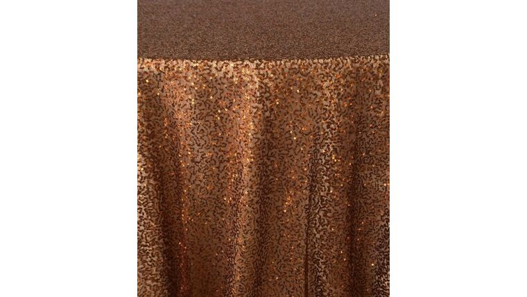 """Picture of a 10' 54"""" Duchess Sequins Copper Backdrops Panel"""