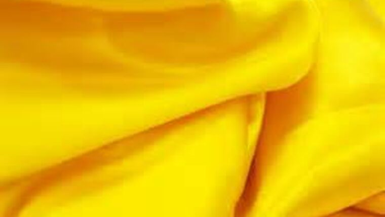 Picture of a 10'  Canary Yellow Satin Drape