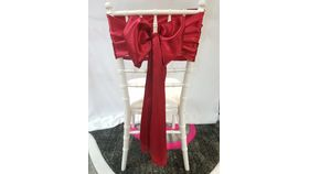 Image of a Apple Red Satin Sashes