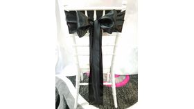 Image of a Black Satin Sashes