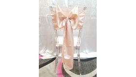 Image of a Blush/ Rose Gold Satin  Sashes