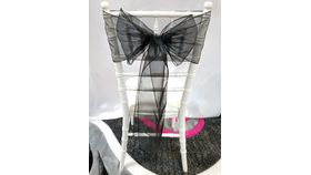 Image of a Black Organza   Sashes