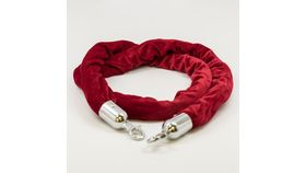 Image of a 5' Red with Chrome Velvet Rope