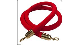 Image of a 5' Red with Brass Velvet Rope