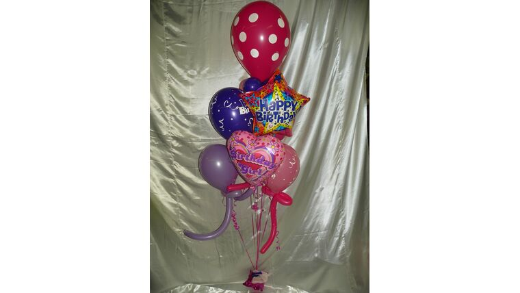 Picture of a #7 Mixed  Balloon Bouquet