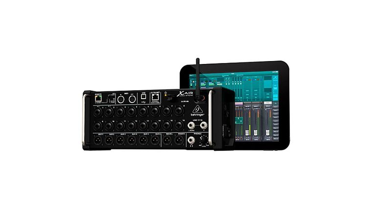 Picture of a Behringer XR18 Wireless Mixer w/ iPad