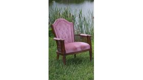 Image of a Blush and Cane Chair