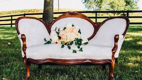 Image of a White Settee