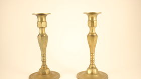 Image of a Brass Candle Sticks