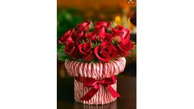 Image of a Candy Cane Rose Arrangement