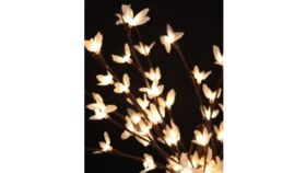 """Image of a 20"""" LED White Blossom Branch, plug in or batterie"""