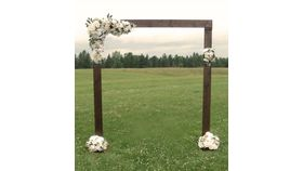 Image of a Baroque Walnut Wedding Arch