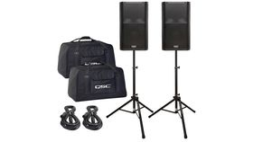 Image of a 2 Speakers with stands for Medium Sized Parties/Events