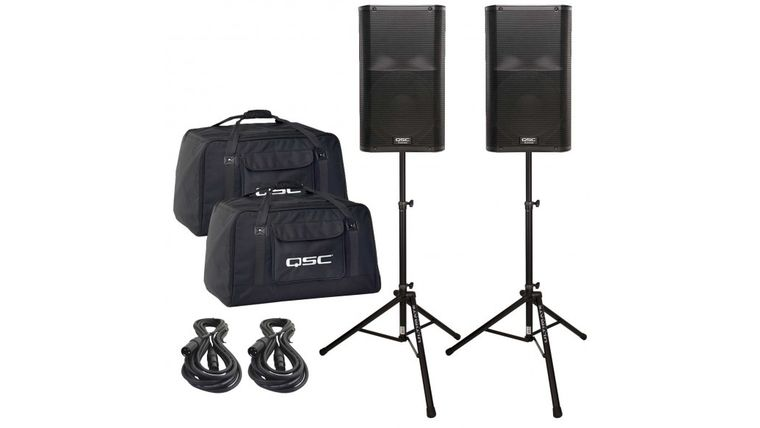 Picture of a 2 Speakers with stands for Medium Sized Parties/Events