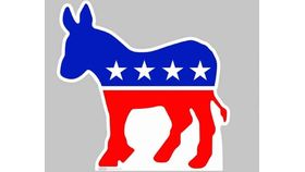 Image of a Cardboard Cutout of the Democrat (donkey)