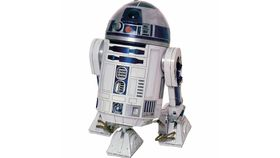 Image of a Cardboard Cutout of R2D2 from star wars 4ft tall