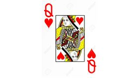 Image of a Giant Queen of Hearts Card