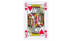 Image of a Giant King of Hearts Card