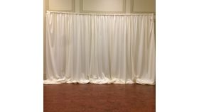 Image of a Ivory Drape (Solid) 22' x 6'