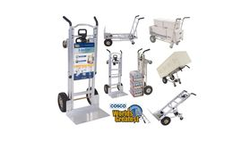 Image of a 1000 lb. 3-In-1 Aluminum Assisted Hand Truck with Flat Free Wheel
