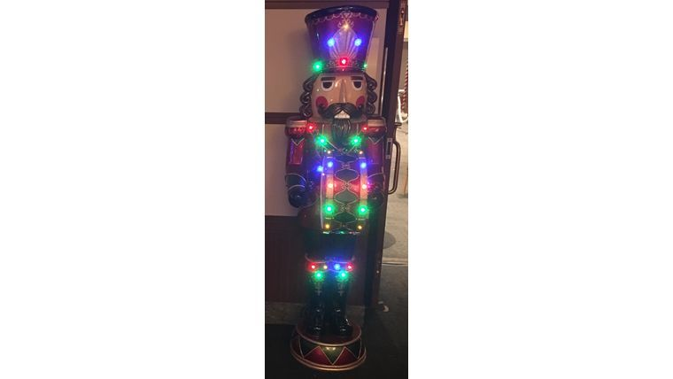 Picture of a 6ft Nutcracker with Music and led lights