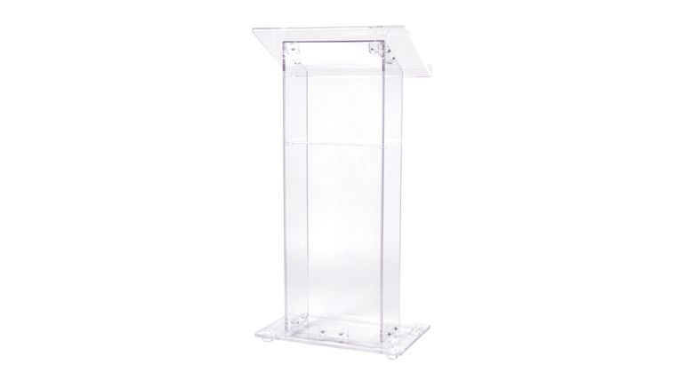 Picture of a Acrylic Podium with Shelf, Clear