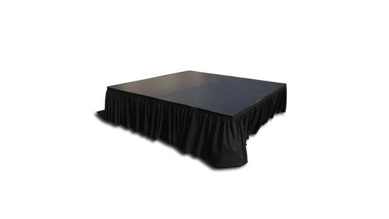 "4' x 4' Stage Panel (Black) 16"" or 32"" Tall : goodshuffle.com"