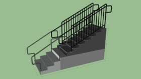 """Image of a 72"""" Step Unit w/Handrails"""