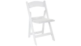 Image of a Chair - Folding Garden Resin - White