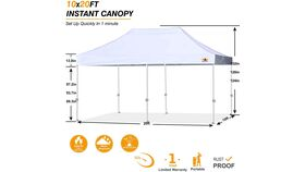 Image of a 10 X 20 Canopy Tent