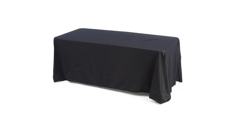 Picture of a 6' Table w/ Black Linen