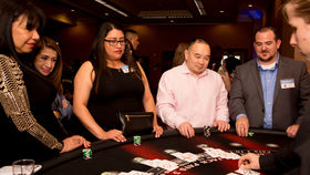 Image of a Blackjack Table (Standing), Fully Equipped with Dealer