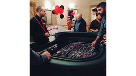Image of a Craps Table (Standing), Fully Equipped with Dealer
