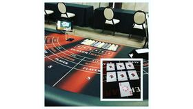 Image of a Mini Baccarat Table (Standing), Fully Equipped with Dealer