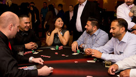 Image of a Poker Table (Seated), Fully Equipped with Dealer