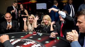 Image of a Blackjack Table (Seated), Fully Equipped with Dealer
