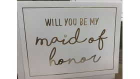 Image of a Be My Maid of Honor Note Card
