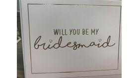 Image of a Be My Bridesmaid Note Card
