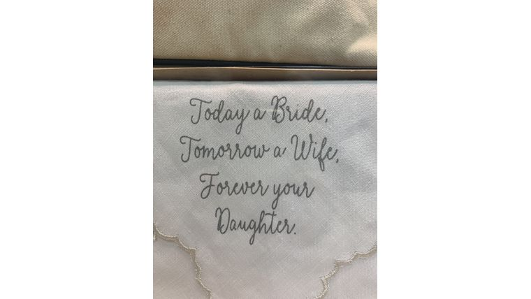 Picture of a Bride Handkerchief