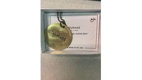 Image of a Brass Round Necklace-Courage