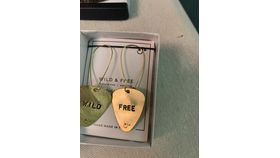 Image of a Brass Guitar Pick Earrings-Wild and free