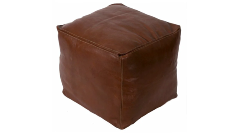 Picture of a Aiden Leather Pouf