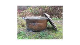 Image of a Antique Galvanized Bucket