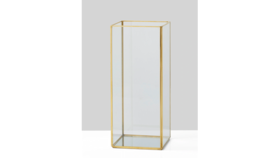 Image of a 12in Gold Candle Holder With Mirror Bottom
