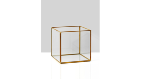 Image of a 5in Gold Square Lantern