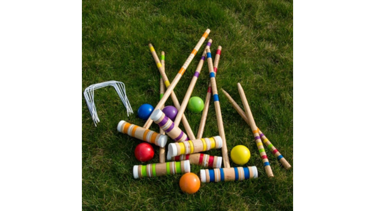 Picture of a 6 player Croquet Set