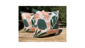 Image of a Emerald and Blush Pillow
